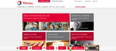 Total website two weeks after the death of its CEO Christophe de Margerie in an aircraft accident. http://www.total.fr