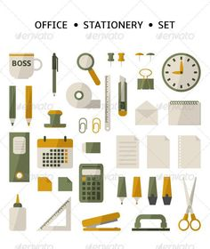 Buy Office Stationery Set by lena_pronne on GraphicRiver. Office stationery set includes: EPS file and JPG file Office Stationery, Stationery Set, Office Paper, Design Fields, Business Icon, Pencil Illustration, Graphic Design Typography, Flat Design, Vector Design