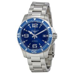 Longines HydroConquest Automatic Blue Dial Stainless Steel Men's Watch L36414966 - Men's Watches - Jomashop