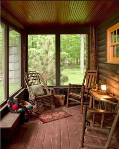 Love that ceiling... Could try a little of our back porch into a laundry/Mudroom, using large windows t still allow light into house...