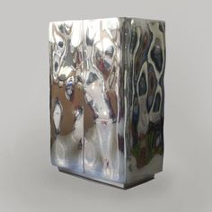 Twenty First Gallery 2 Door Francois Corbeau Cabinet Tin Textures Patterns, Color Patterns, Contemporary Cabinets, Steel Water, 3d Design, Candle Holders, Stainless Steel, Candles, Doors
