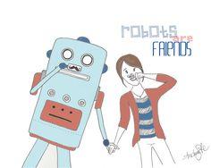Robots mustache