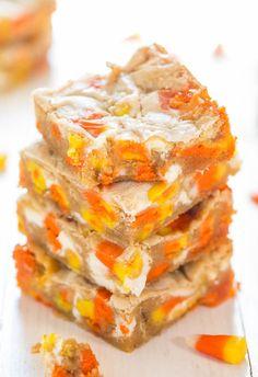 Candy Corn and White Chocolate BlondiesReally nice recipes.  Mein Blog: Alles rund um die Themen Genuss & Geschmack  Kochen Backen Braten Vorspeisen Hauptgerichte und Desserts