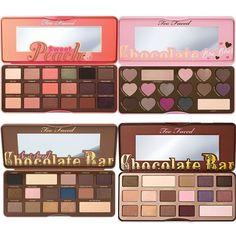 Too Faced Chocolate Bar & Semi Sweet Peach & Bon Bons Eyeshadow Palette…