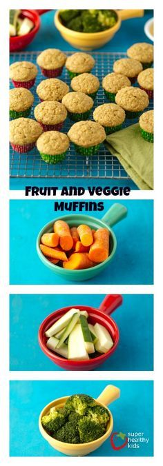 Power Packed Fruit and Veggie Muffins.  These are the best for my picky eater! www.superhealthykids.com