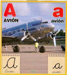Material educativo para maestros: Abecedario con imagenes reales Aircraft, Album, Chocolate, Board, Blog, Index Cards, Aviation, Plane, Schokolade