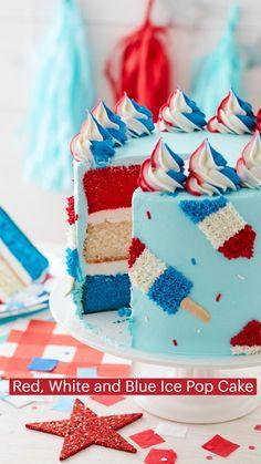Cupcakes, Cupcake Cakes, Patriotic Desserts, Patriotic Party, Cake Decorating Techniques, Cake Decorating Tutorials, Cake Decorating Frosting, Cookie Decorating, Cake Icing