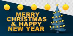 MERRY CHRISTMAS & HAPPY NEW YEAR on Behance New Year Illustration, Graphic Design Illustration, Merry Christmas And Happy New Year, Behance, 3ds Max