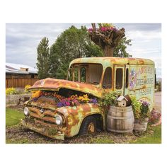 Take a ride with us in the new 500 piece jigsaw puzzle Flower Truck. This image of a vintage truck stuffed with flowers is full of vibrant colors and gorgeous details.Pieces: Springbok PuzzlesCompleted puzzle measures x Classic Chevy Trucks, Classic Cars, Flower Truck, Old Pickup Trucks, Dually Trucks, Abandoned Cars, Abandoned Places, Vintage Trucks, Custom Trucks