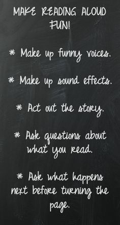 These are great ways to make reading fun. You can also introduce performing arts, music, and comprehension by using these suggestions.