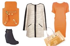 orange outfit #fashion #blog