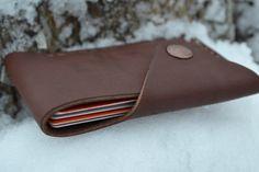 Leather Wallet-Men Wallet-Leather Card Holder Leather-Handmade Brown.