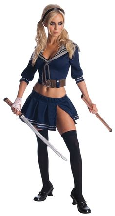 Sucker Punch Babydoll Adult Costume #sexy womens costumes #sexy halloween costumes