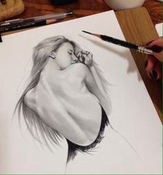 Wonderful Pencil Sketches by Siyoung Realistic Pencil Drawings, Dark Art Drawings, Art Drawings Sketches Simple, Pencil Art Drawings, Cool Drawings, Portrait Sketches, Pencil Portrait, Body Sketches, Erotic Art