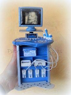 Ecógrafo en Miniatura para cuadro a pedido