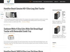 Looking for a long slot toaster? Check this site to get the latest information on the best long slot toasters available on the market  http://longslottoasters.com/  #LongSlotToaster #LongSlotToasterReviews #4SliceLongSlotToaster