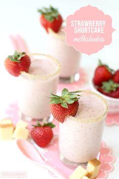 Strawberry Shortcake MILKSHAKE recipe! via @Courtney Baker Whitmore {Pizzazzerie.com}