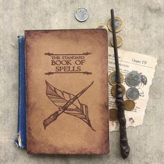 """The Standard Book of Spells"" notebook, sketchbook, or journal is the perfect Harry Potter gift! This Harry Potter sketchbook is ideal for your Hogwarts adventures. Harry Potter Notebook, Harry Potter Sketchbook, Hogwarts Notebook, The Standard Book of Spells, Harry Potter Journal, Harry Potter Gift, HP. 