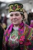 russian woman in traditional costume