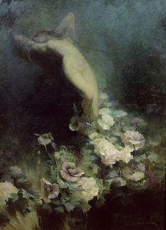 Achille Theodore Cesbron (1849-1913) - Les Fleurs du Sommeil #art #painting #classic