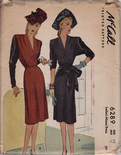 Great 1940's McCall's pattern from the collection of Stephanie Pitchers