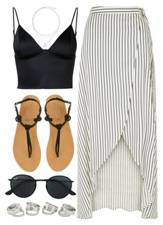 """#14690"" by vany-alvarado ❤ liked on Polyvore featuring New Look, T By Alexander Wang, Office and Ray-Ban"