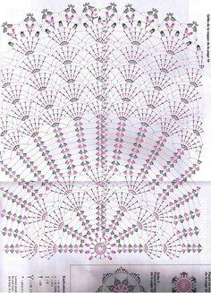 Kasia at home and garden: The eighth wonder of the world, i.- Kasia w domu i ogrodzie: Ósmy cud świata, czyli….szydełkowy abażur Kasia at home and in the garden: The eighth wonder of the world, i. … a crochet lampshade - Filet Crochet, Mandala Au Crochet, Crochet Doily Diagram, Crochet Circles, Crochet Doily Patterns, Crochet Chart, Thread Crochet, Crochet Designs, Crochet Doilies