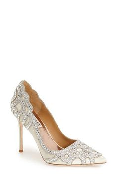 Badgley Mischka Badgley Mischka 'Rouge' Pointy Toe Pump (Women) available at #Nordstrom #brideshoe