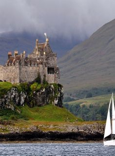 Duart Castle, on the Isle of Mull in Scotland