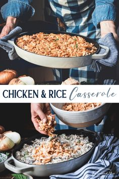 Easy Chicken And Rice, How To Cook Chicken, Chicken Rice, Rice Casserole, Casserole Recipes, Freezer Cooking, Cooking Recipes, Healthy Recipes, Creamed Mushrooms
