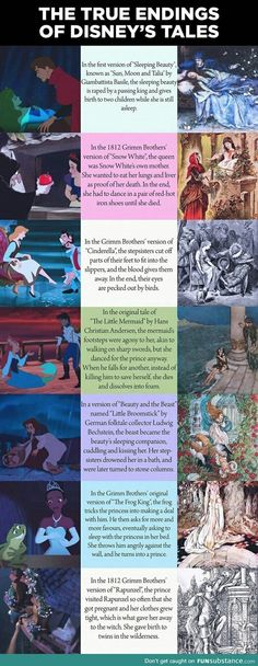 True endings of Disney tales