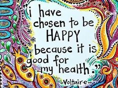 Because happiness is good for you!