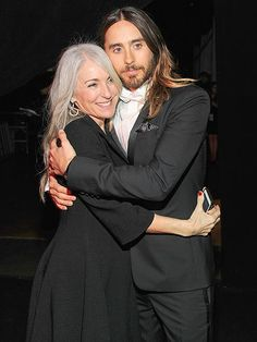 "MOM'S THE WORD Now we know where that flowing mane comes from. Best supporting actor winner Jared Leto shares a sweet moment with his well-coiffed mother, Connie, during the show. ""Thank you for giving me such a shining and wonderful example of the possibilities of life,"" he told her during his acceptance speech. ""I love you."""
