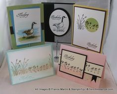 Class in the Mail Wetland * Use my Shore Thing SU stamp set for the card in the lower right corner.
