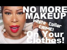 "Here's the secret to keeping makeup off of your clothes and everyone else's! Enjoy the latest episode of ""Pretty Pop Up!"" Hugs, Crystal Website: www. How To Do Eyebrows, How To Apply Makeup, Metallic Eyeshadow Palette, Bite Beauty Amuse Bouche, Remove Makeup From Clothes, Makeup Haul, Types Of Makeup, Lipstick Set, Makeup For Beginners"