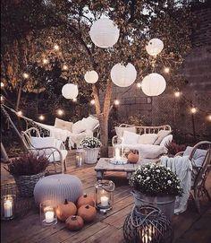 """Shelby on Instagram: """"HAPPY HALLOWEEN! 🍂🎃🍂 📷: @marzena.marideko #halloween #pumpkin #outdoorliving #gardenlife #homeandgarden #lanterns #cosyliving #hygge #wood…"""""""