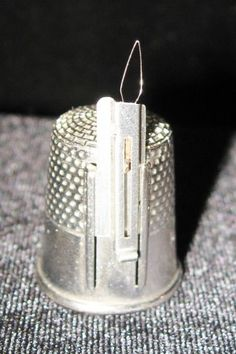 Vintage Gadget Thimble Size 11 with Needle Threader @ Vintage Touch SOLD