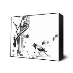 White Stripes Mini Art Block Print - 10 X 12 inches