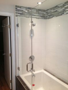 Tile Above Shower Surround Bathroom Pinterest Shower