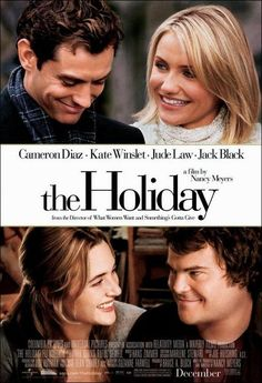 The Holiday Movie Perfect pairing - Jude Law with Cameron Diaz and Kate Winslet with Jack Black.LOVE this romantic holiday movie! Chick Flicks, Jude Law, Film Music Books, Music Tv, Art Music, Romantic Christmas Movies, Holiday Movies, Christmas Time, Xmas Movies