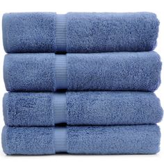 Luxury Hotel and Spa Towel 100 Percent Genuine Turkish Cotton , Wedgewood
