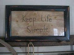 Keep Life Simple Stitchery