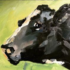 Angus Cattle   farm style original artwork, cow oil painting or print on canvas inspired by Ireland by IrishFamArt on Etsy Cattle Farming, Farm Art, Cow Art, Vintage Art Prints, Portrait Illustration, People Art, Freelance Illustrator, Photo Art, Original Artwork