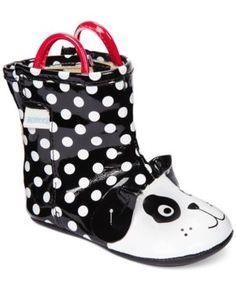 Robeez Mini Shoez Baby Girls' Pepper Rain Boots - Black 2