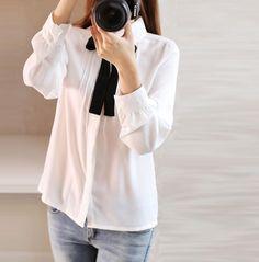 2016 Nova Moda Chiffon Camisa Das Mulheres Blusa Tee Camisas Das Mulheres de Renda Branca Blusa Plus Size Roupas Femininas