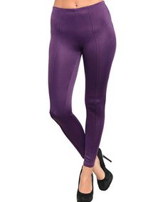 Take a look at this Plum Leggings by Ami Sanzuri on #zulily today!