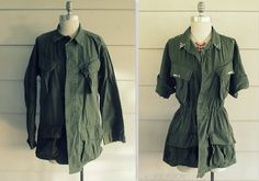 Brassy Apple: DIY Military Top Refashion