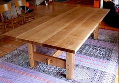 Hand made, custom built White Oak Dining Table by Nick Offerman. Solid Quarter-sawn White Oak. Hand rubbed Tung Oil Finish. Made in USA.