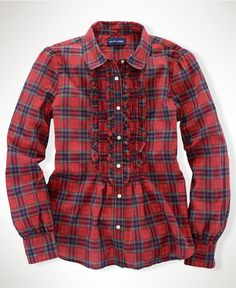 Ode to Ms. Westwood for the lil' ones. Ralph Lauren Kids Shirt, Little Girls Tartan Blouse - Kids Girls 2-6X - Macy's $45.00 #MacysBTS