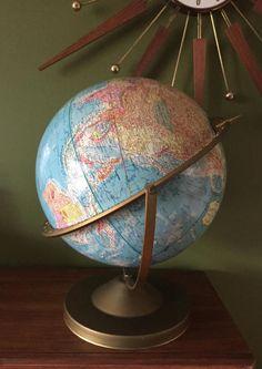 """Mid Century 12"""" Globe"""